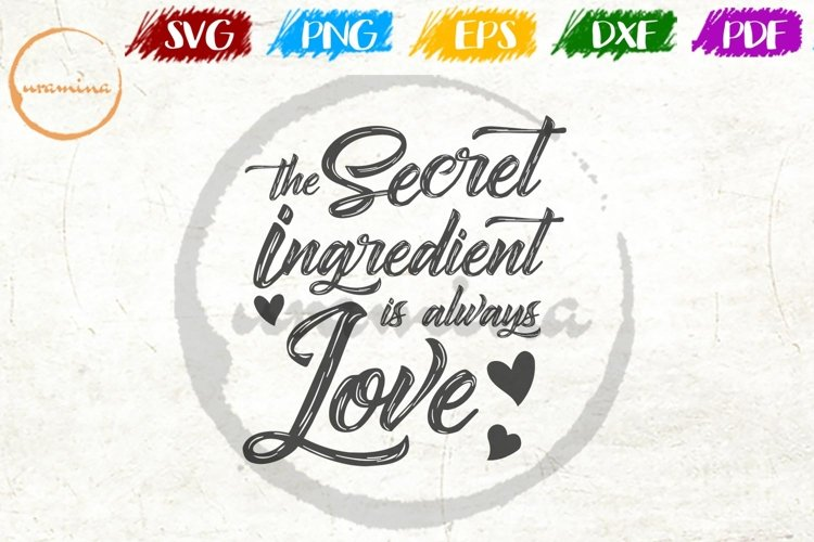 The Secret Ingredient Kitchen SVG PDF PNG example image 1