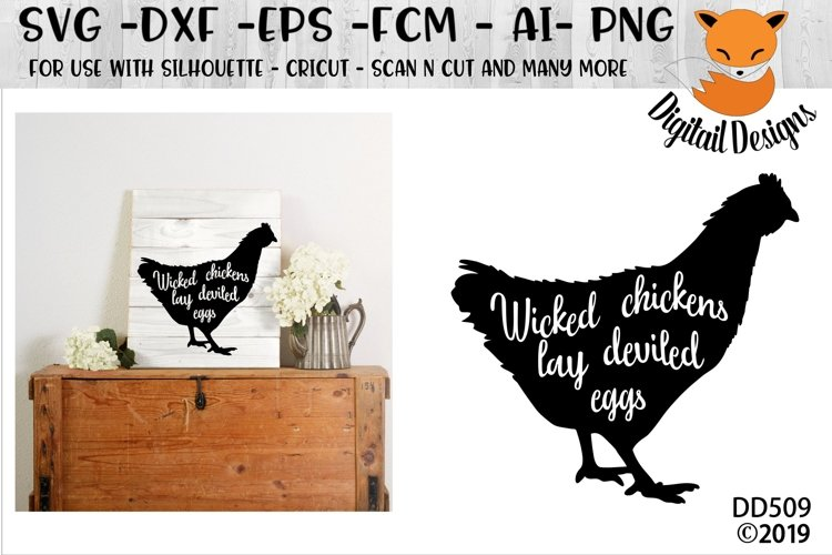 Wicked Chicken SVG example image 1