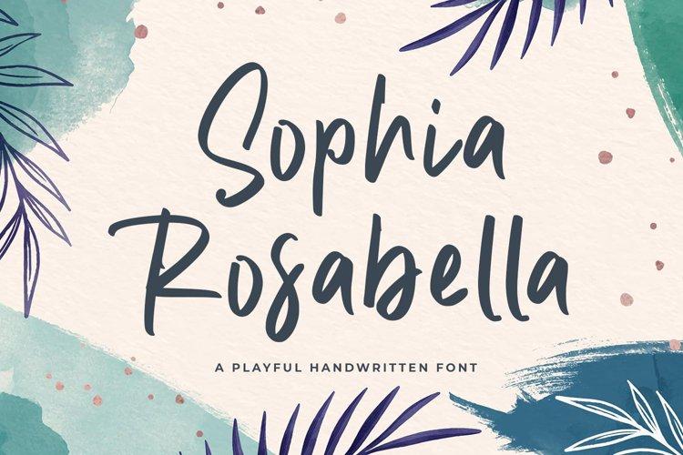 Elegant Handwriting Font - Sophia Rosabella example image 1