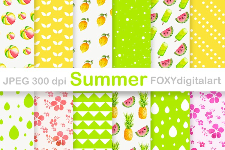 Summer Holiday Tropical Island Vacation Travel Digital Paper example image 1
