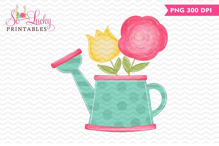 Watering Can printable sublimation design example image 1