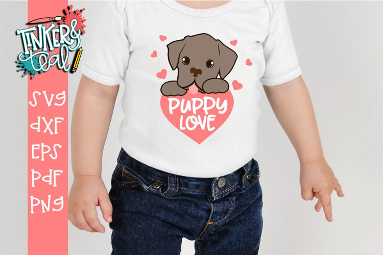 Puppy Love Valentine's Day SVG DXF PNG PDF Cut file example image 1