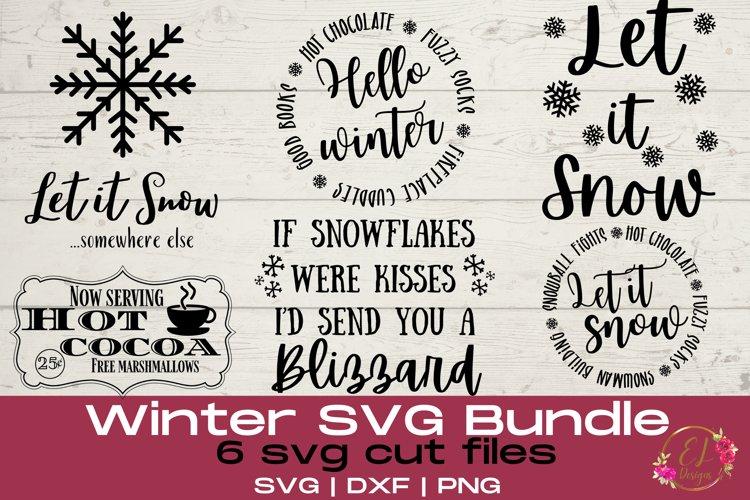 Winter SVG Bundle | Snowflake Svg | Winter Sign SVG example image 1