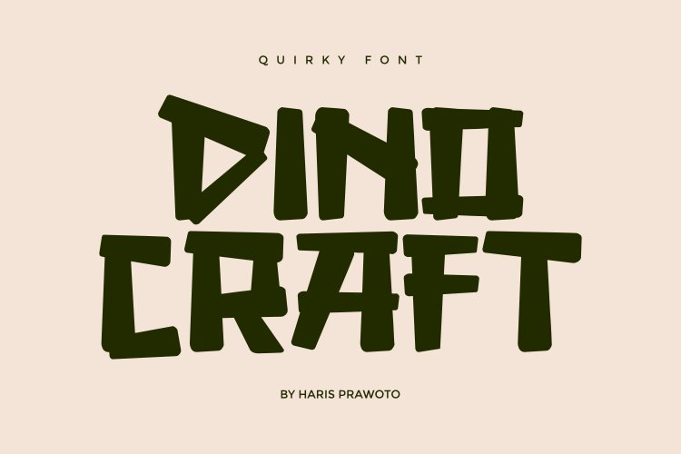 DINOCRAFT - Quirky Font example image 1