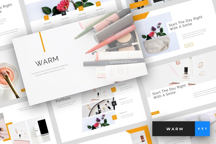 Warm - A Beauty and Cosmetics Keynote Template example image 1