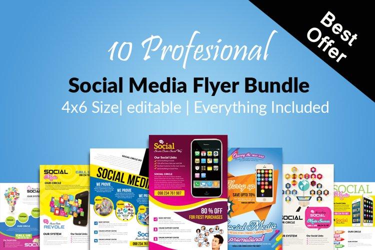 10 Social Media Marketing Flyers Bundle example image 1