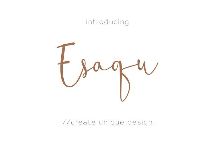 Esaqu - Modern & Feminine Font! example image 1