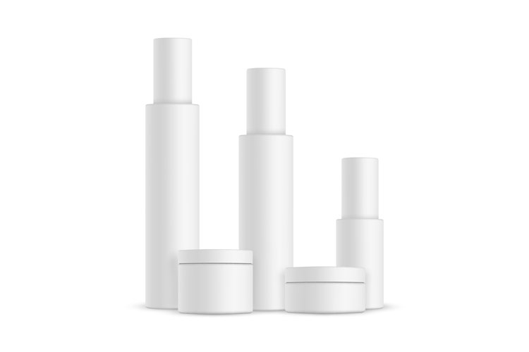 Cosmetic bottles and cream jars example image 1