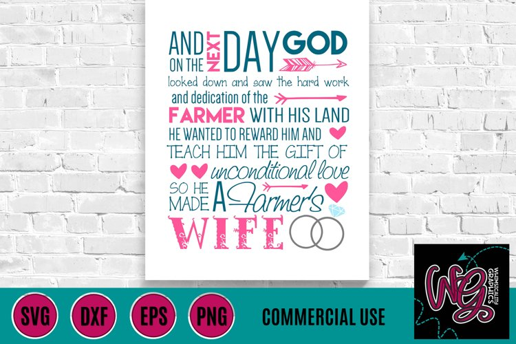 Farmers Wife Saying SVG DXF PNG EPS Comm