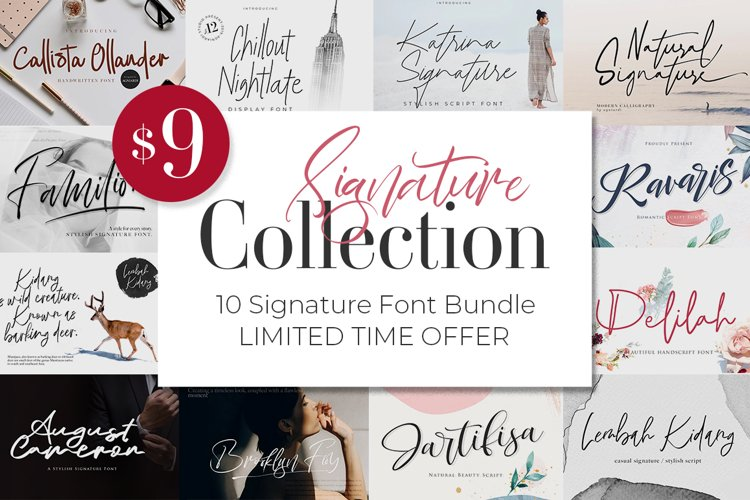 Signature Collection Font Bundle