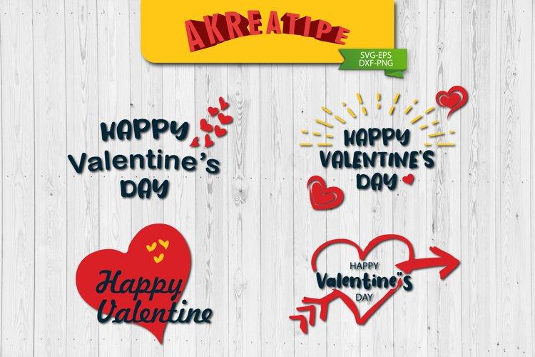 Happy Valentine's Day SVG|Valentine SVG|Sublimation|Cut File example image 1