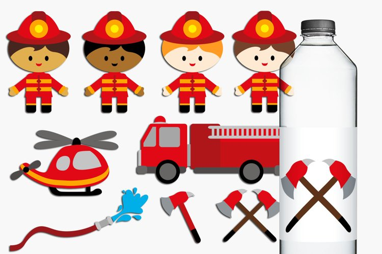 Boys Firefighter Illustrations example image 1