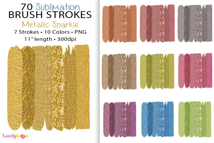 Glam brush strokes, sublimation background, PNG bundle