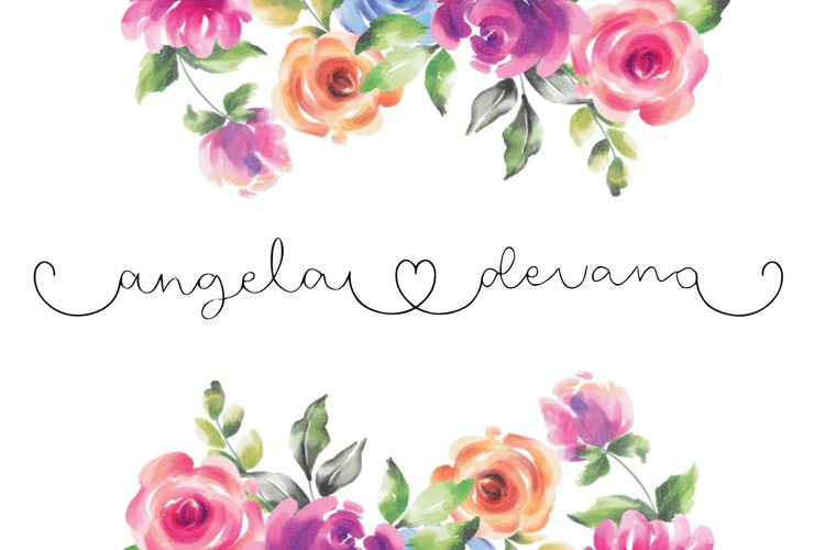angela devano wedding love calligraphy