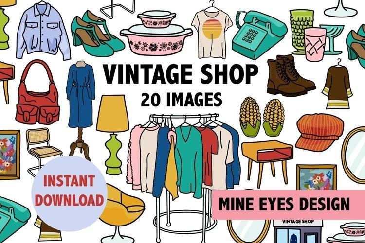Vintage Shop Illustrations