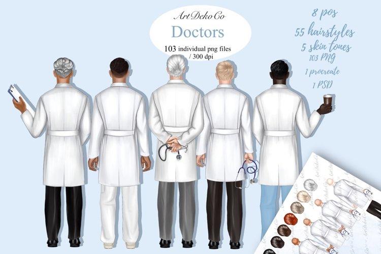 Doctor clipart, Custom Doctor Portrait, Doctor Clipart