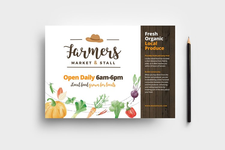 Farmers Market Flyer Template example image 1