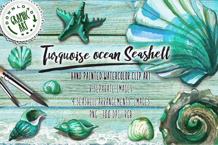 Turquoise ocean Seashell example image 1