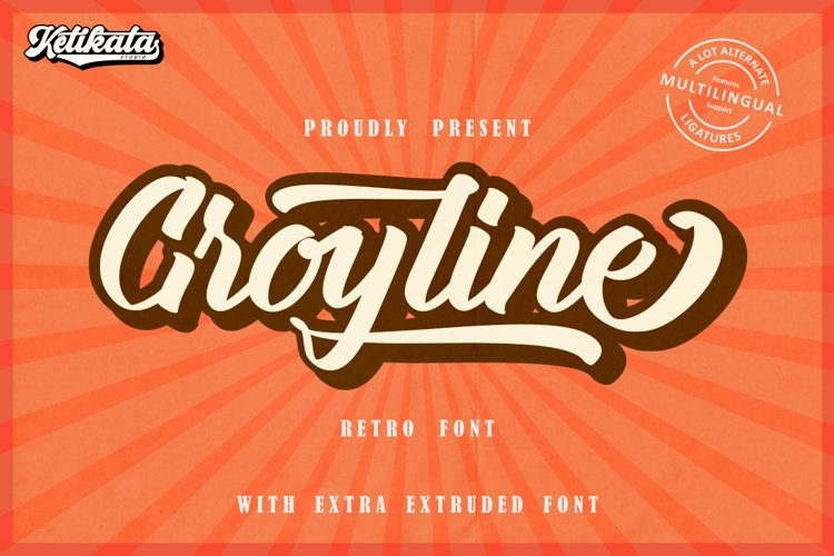 Groyline Retro font example image 1