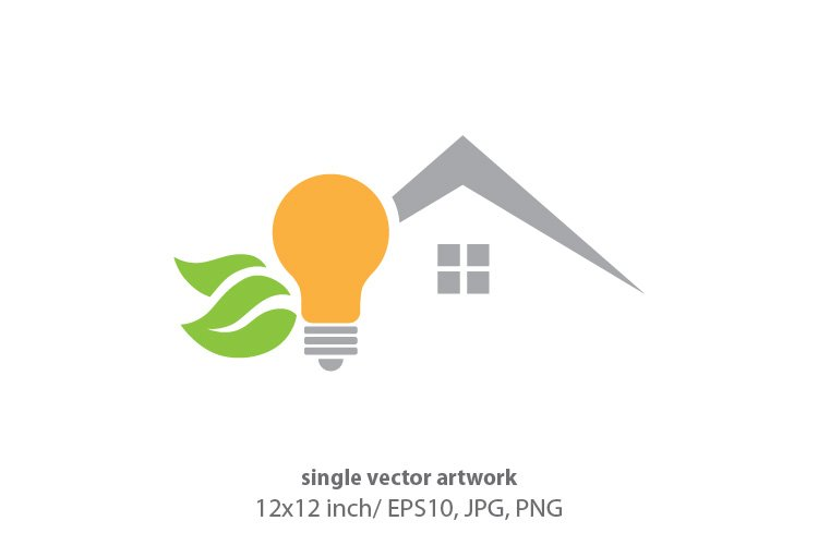home light bulb, vector example image 1