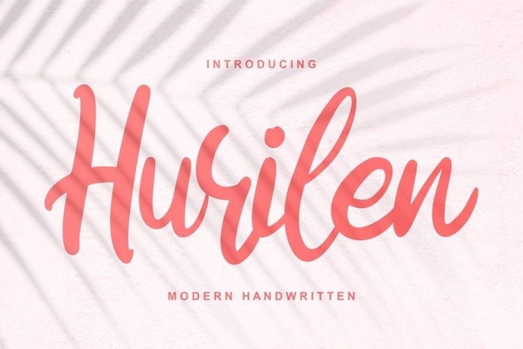 Hurilen   Modern Handwritten Script Font example image 1