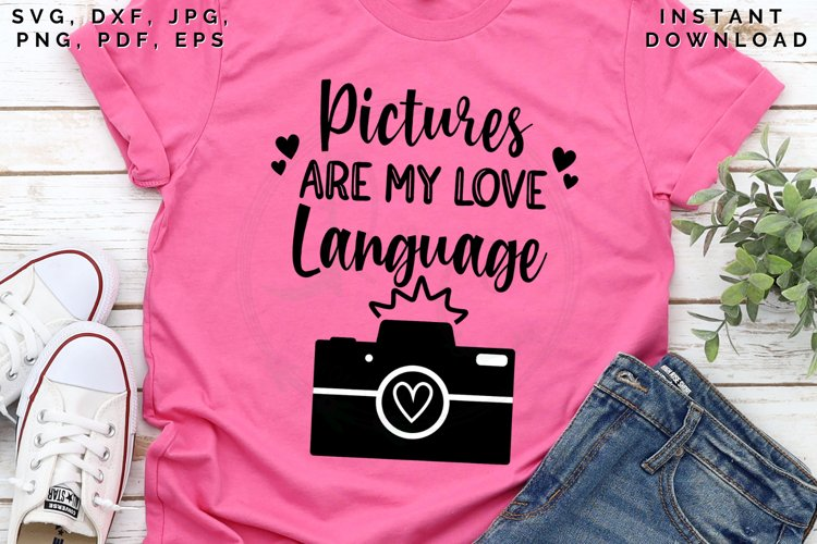 Pictures are my love Language svg, Love in pictures svg