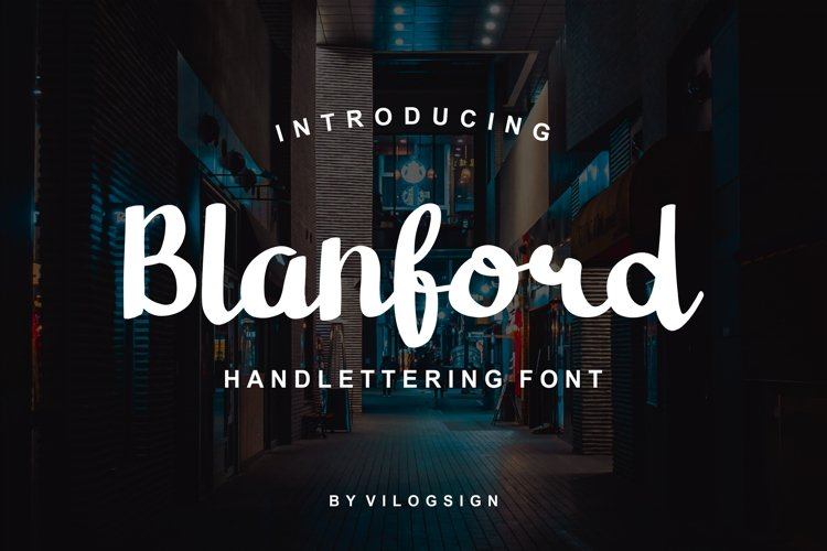 Blanford Handlettering Font example image 1