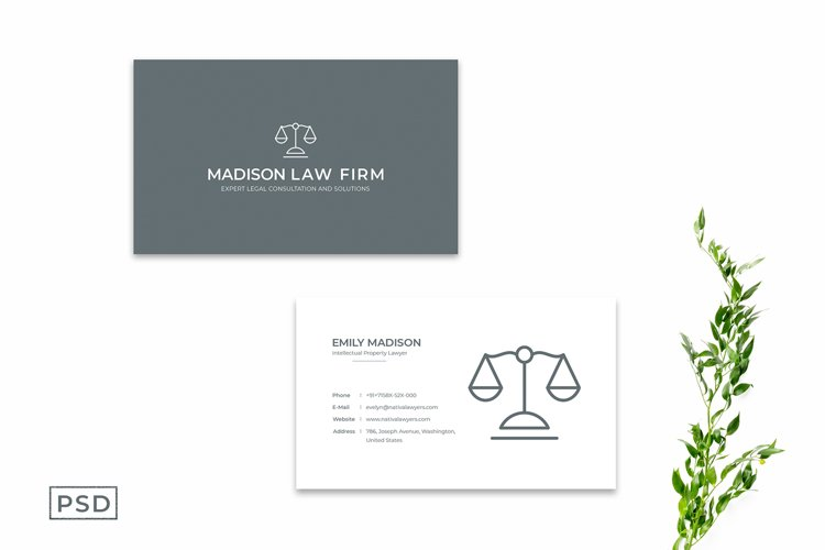 Simple Minimal Business Card Template Vol. 3 example image 1