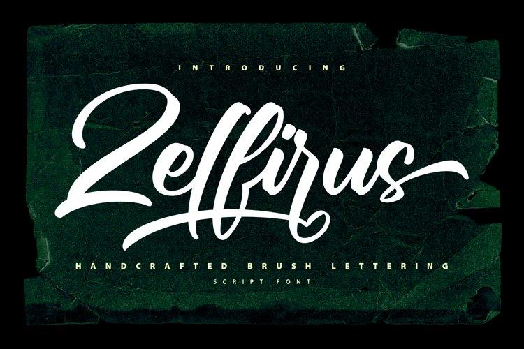 Zelfirus - Handcrafted Brush Lettering Script Font example image 1