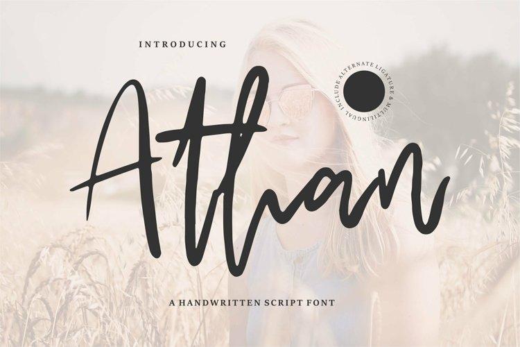 Web Font Athan - A Handwritten Script Font example image 1
