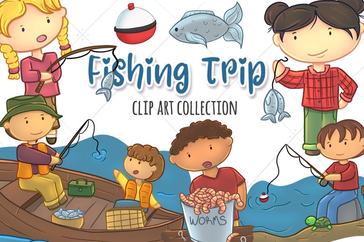 Kids Fishing Clip Art Collection