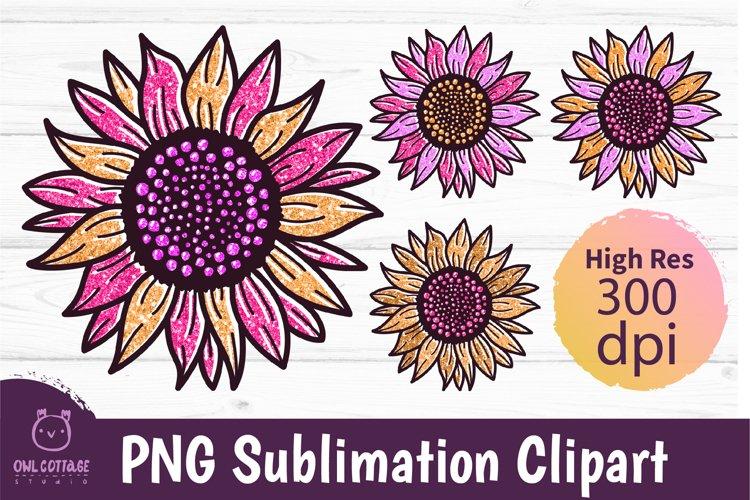 Golden Glitter Sunflowers Sublimations mini Bundle, Sunflowe example