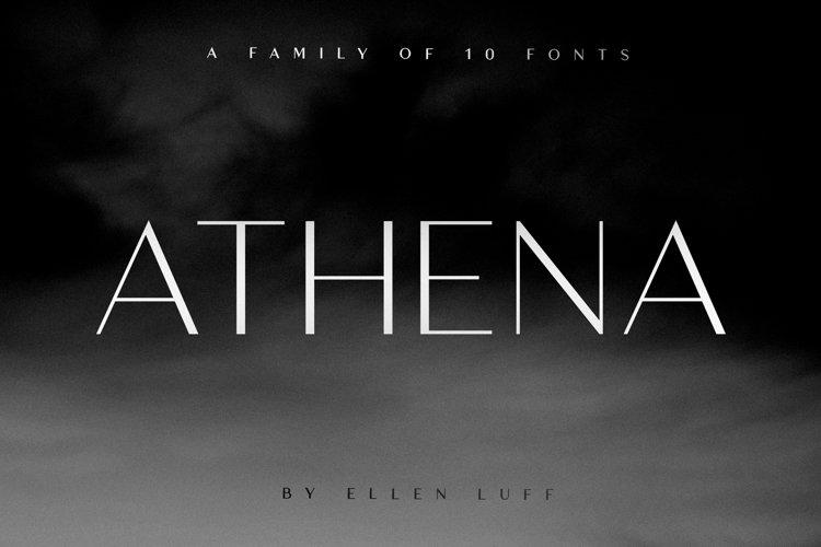 Athena - An elegant font