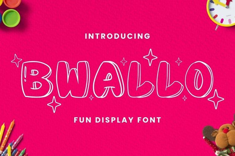 Web Font Bwallo Font example image 1