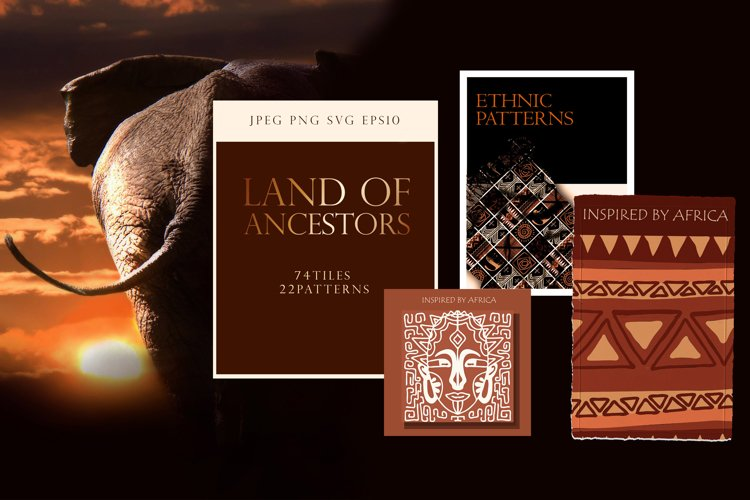 """Ethnic African Patterns and tiles """"Ancestral land"""" example image 1"""