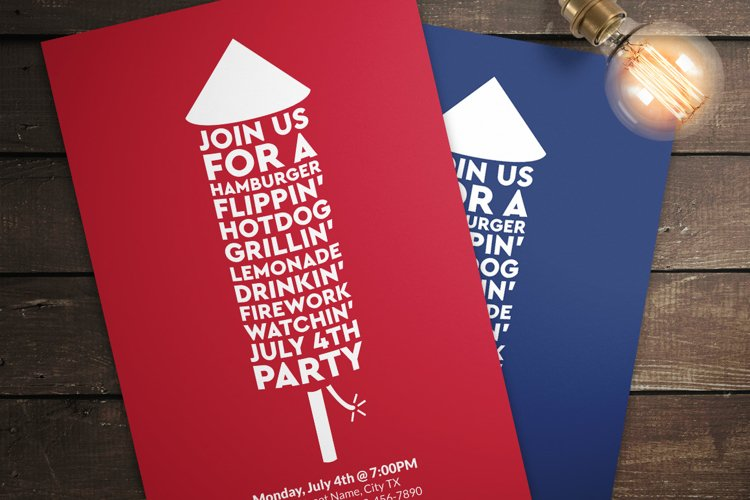 July 4th Invitations