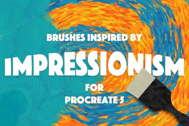 Procreate Impressionism Brushes example image 1