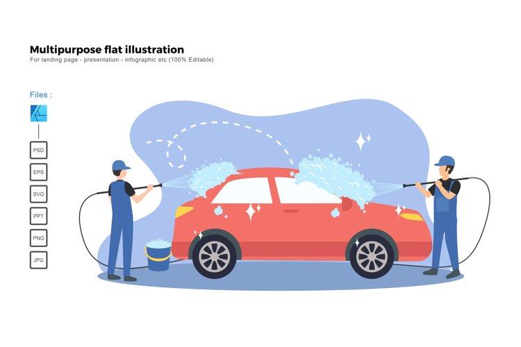Flat illustration car wash service