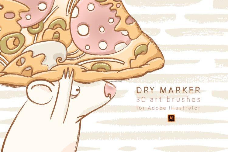 Dry Marker Brushes for Illustrator