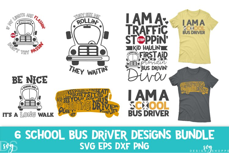 School Bus Driver, School, Bus, SVG, PNG, DXF, EPS example image 1