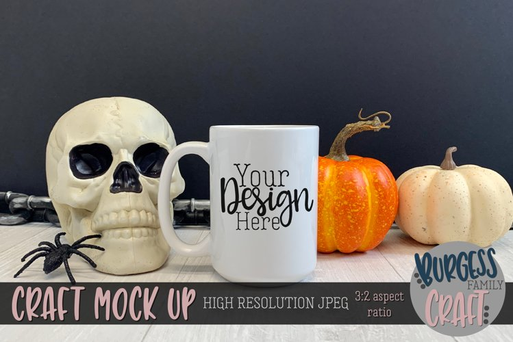 Halloween sublimation mug II| Craft mock up