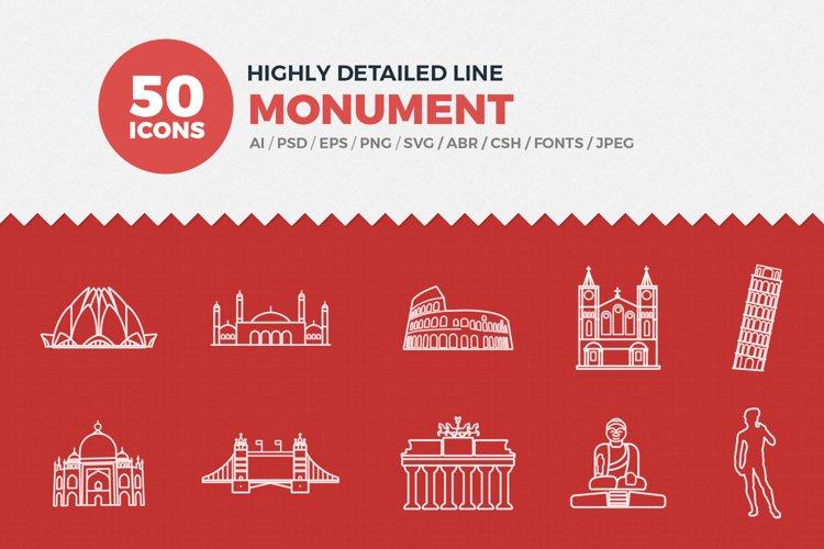 JI-Line Monument Icons Set example image 1