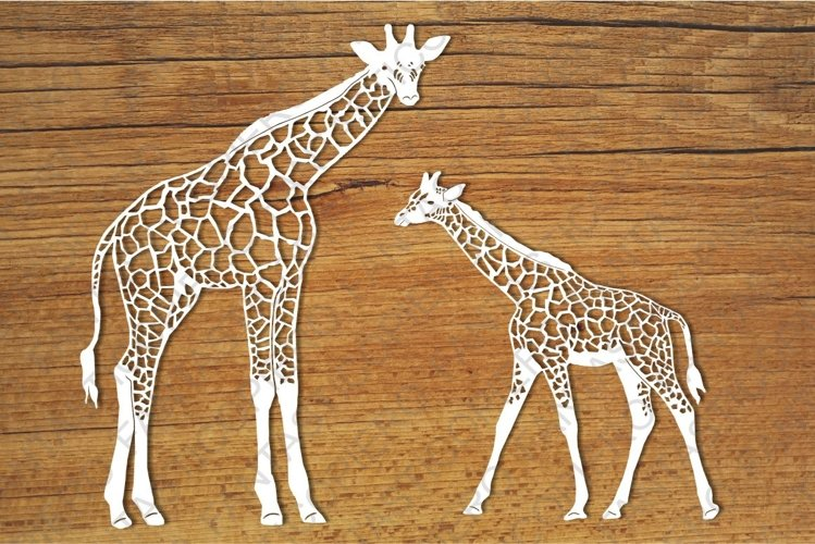 Giraffes SVG files for Silhouette Cameo and Cricut.