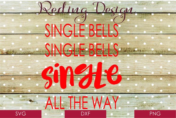 Single Bells Christmas SVG DXF PNG Digital Cut File