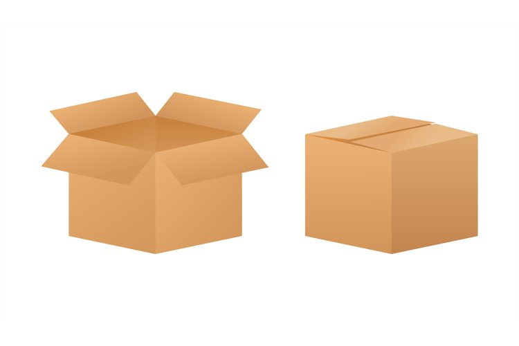 Carton parcel box. Shipping delivery symbol. Gift box icon. example image 1