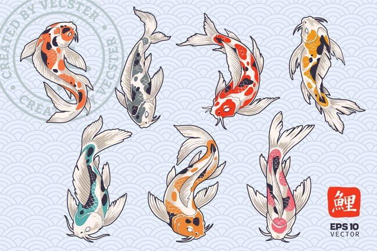 Koi Fish Vector Set