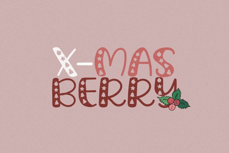 Xmas Berry - A Carved Handwritten Font example image 1