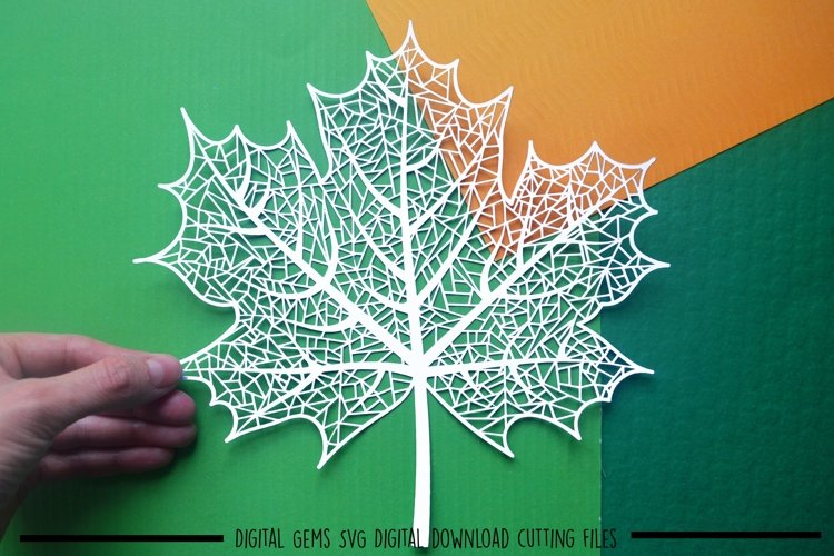 Leaf paper cut SVG / DXF / EPS files example image 1