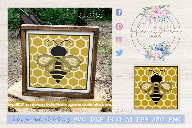 Honeybee Block Design Spring SVG DXF FCM LL235A