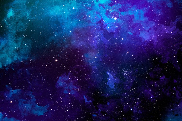 Space Watercolor Backgrounds - Free Design of The Week Design5
